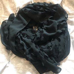 Maurices sheer detailed black scarf
